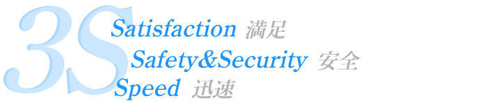 3S、Satisfaction、Safety&Security、Speed
